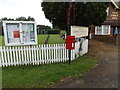 TL9577 : Swan End Postbox & Village Notice Board by Adrian Cable