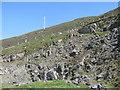 NF9990 : Roadside quarry on Maodal by M J Richardson