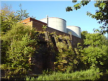 SE2833 : Storage tanks on Leeds & Liverpool Canal by Schlosser67