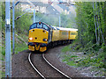 NS2071 : Engineering train near Inverkip station by Thomas Nugent