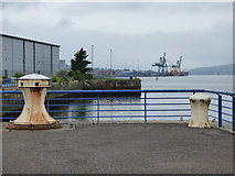 NS2975 : Old capstan at James Watt Dock by Thomas Nugent