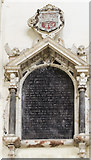TG1020 : Memorial to George & Alice Meares, St Mary's church, Great Witchingham by Julian P Guffogg