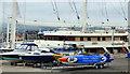 NS2975 : Racing speedboat at James Watt Dock by Thomas Nugent