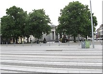 J0407 : View across Market Square towards the Dundalk Courthouse by Eric Jones