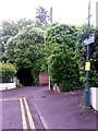SZ0791 : Westbourne: footpath A10 from Snowdon Road by Chris Downer