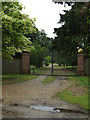 TL9283 : Entrance to Brettenham Manor by Adrian Cable