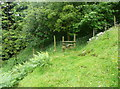 SE0929 : Stile on diverted footpath from Hill End Lane to Shibden Head, Queensbury by Humphrey Bolton
