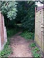 SZ0696 : Kinson: footpath E22 enters Millhams Mead by Chris Downer