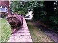 SZ0696 : Kinson: footpath E23 nears Berrans Avenue by Chris Downer