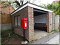 TL9585 : West End Postbox & Bus Shelter by Adrian Cable