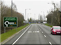 SJ6073 : A49 approaching Weaverham Roundabout by David Dixon