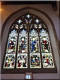 TL1998 : St John the Baptist, Peterborough: stained glass window (v) by Basher Eyre