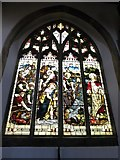 TL1998 : St John the Baptist, Peterborough: stained glass window (viii) by Basher Eyre