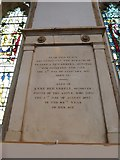 TL1998 : St John the Baptist, Peterborough: memorial (i) by Basher Eyre