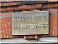 TM3569 : Peasenhall & Sibton Methodist Church sign by Adrian Cable