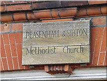 TM3569 : Peasenhall & Sibton Methodist Church sign by Adrian Cable