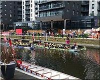 SE3032 : Dragon Boat racing in Leeds Dock by Rich Tea