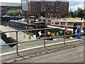 SE2933 : Knitted bunting, Granary Wharf by Rich Tea