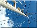 NT2677 : Royal Yacht Britannia ship mast flagpole by Peter Evans