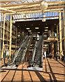 TL1898 : Escalators in Queensgate Bus Station, Peterborough by Robin Stott
