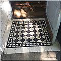 TL1998 : Tiled floor at entrance, Argo Lounge, Bridge Street, Peterborough by Robin Stott