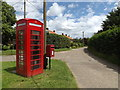 TL9780 : Lodge Lane, Telephone Box & The Street Postbox by Adrian Cable