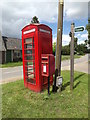 TL9780 : The Street Postbox & Telephone Box by Adrian Cable