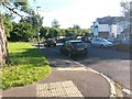 SZ0992 : Malmesbury Park: this stretch of pavement is footpath C19 by Chris Downer