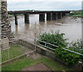 ST3188 : Spiked barrier at the edge of Newport Castle  by Jaggery