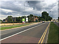TL1896 : Commercial and residential development in prospect by London Road, Peterborough by Robin Stott