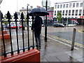 H4572 : Wet, High Street, Omagh by Kenneth  Allen