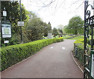 SS7597 : Victoria Gardens entrance path, Neath by Jaggery