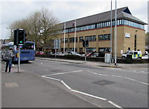 SS7597 : Pelican crossing to Neath Police Station by Jaggery