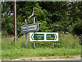TL9781 : Roadsigns on the A1066 Thetford Road by Adrian Cable