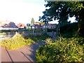SZ0793 : Ensbury Park: footpath N08 reaches Boundary Road by Chris Downer