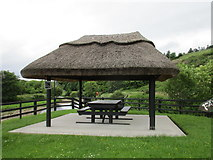 R1716 : Picnic shelter where three counties meet by Jonathan Thacker
