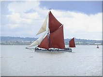 TQ7178 : Sailing barge 'Xylonite' passing Lower Hope Point by Stefan Czapski