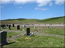 HU3364 : Muckle Roe cemetery by David Purchase