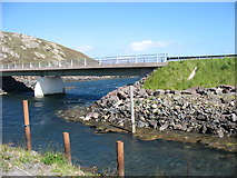 HU3466 : The Muckle Roe bridge by David Purchase