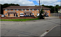 ST3487 : Row of modern houses, Liswerry Road, Newport by Jaggery