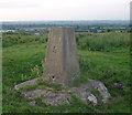 SP7586 : Clack Hill triangulation pillar by Andrew Tatlow