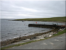 HU3688 : Burra Voe pier by David Purchase