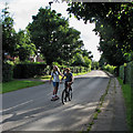 SK5141 : Cycling and skateboarding in Strelley by John Sutton