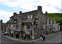 SY9682 : Corfe Castle-Bankes Arms Hotel by Ian Rob