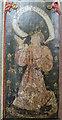 TF8342 : Pulpit painting, St Margaret's church, Burnham Norton by Julian P Guffogg