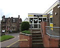 SO6303 : Steps up to the Library, Lydney by Jaggery