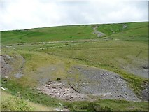 SN8693 : Public bridleway climbing up Llechwedd Du by Christine Johnstone
