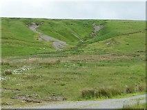 SN8693 : Gullies on the hillside below Penycrocbren by Christine Johnstone