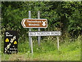 TM0481 : Roadsigns on Blo' Norton Road by Adrian Cable