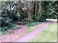 SZ0895 : Redhill: bridleway O16 leaves Wimborne Road by Chris Downer